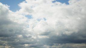 4K-蓝天天空厚厚云层白云流动气象万千视频素材
