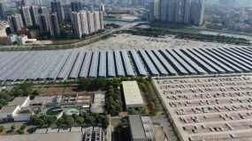 广州花都东风日产工厂4k航拍视频素材