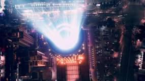 罗湖灯光秀视频素材