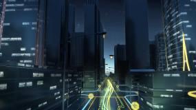 城市光线穿梭视频素材