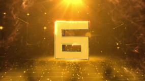震撼金色三維倒計時AE模版AE模板