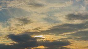 4K-大气日落西山落日黄昏延时摄影视频素材