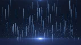 4K原创蓝色舞台背景粒子视频素材