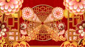 喜庆中国风背景穿梭推进晚会led背景视频视频素材