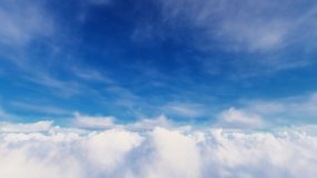 蓝天白云唯美高清延时视频素材