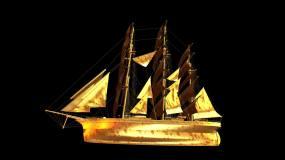 帆船揚帆起航素材帶通道視頻素材