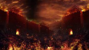 战火城池背景循环视频素材