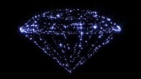 梦幻钻石粒子星光视频素材