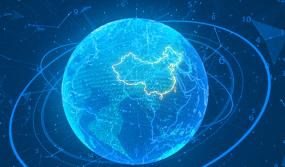 数字地球俯冲重庆视频素材
