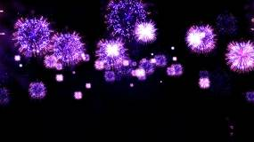 紫色烟花-透明通道视频素材