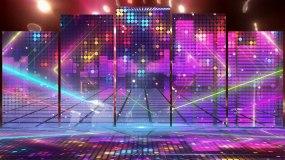权志龙《狂放》动感舞台背景灯光秀视频素材