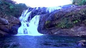 山泉泉水山涧小溪山溪流石头水流视频素材