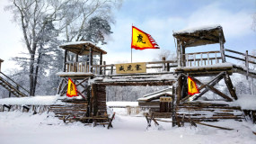 现代京剧林海雪原戏曲背景视频素材