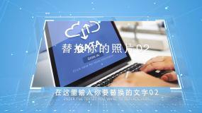 科技簡潔企業圖文AE模板
