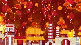 春节喜庆背景视频素材