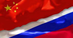 中国和俄罗斯国旗4K视频素材