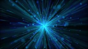 4K蓝色发散粒子年会新年晚会舞台背景视频素材