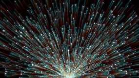 4K红蓝粒子动态年会新年晚会舞台背景视频素材