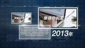 科技简洁企业图文时间线AE模板