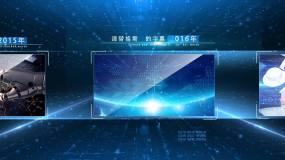 蓝色大气商务图文展示AE模板