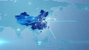 简洁地图辐射全球AE模板