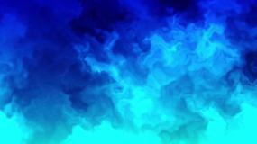 蓝色烟雾动态视频素材视频素材