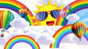 梦幻可爱卡通幼儿园LED大屏幕背景视频视频素材
