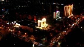 城市航拍夜景延时灯光视频素材