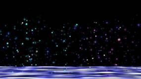 梦幻唯美粒子雨星光闪耀视频素材