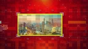紅色科技企業圖文展示1AE模板