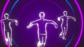 野狼disco歌曲配乐成品舞蹈灯光秀动感视频素材