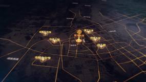 AE震撼地图辐射AE模板