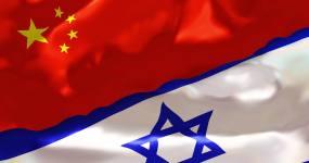 中国和以色列国旗4K视频素材