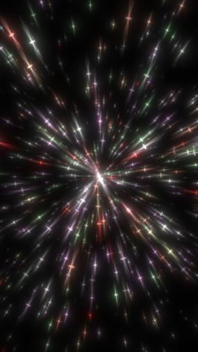 抖音循环粒子速度线彩色特效背景素材视频素材