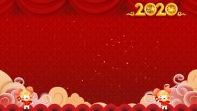 卡通鼠年边框背景视频素材