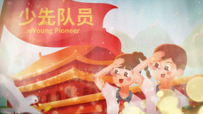 红领巾相约中国梦视频素材