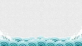 4K鱼跃龙门海浪循环带通道序列其他