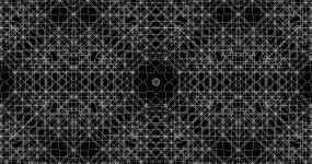 4K动感白色线条运动万花筒背景视频素材