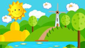 梦幻卡通幼儿园LED背景视频视频素材