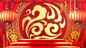 中国风戏曲花纹图案LED背景视频视频素材