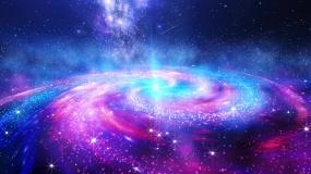 宇宙银河系太空星云旋转视频素材
