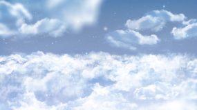 天空飞鸟动画冲击波logo片头AE模板AE模板