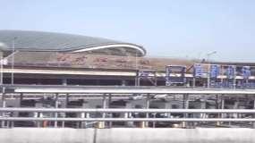 北京首都机场巴士飞机起飞降落视频素材包