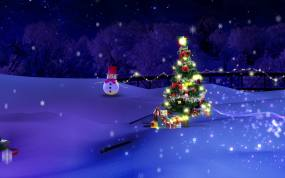 CXQD-VJ-CXQD圣诞雪景视频素材包