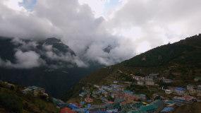 4k美丽延时西藏风景雪山云层视频素材