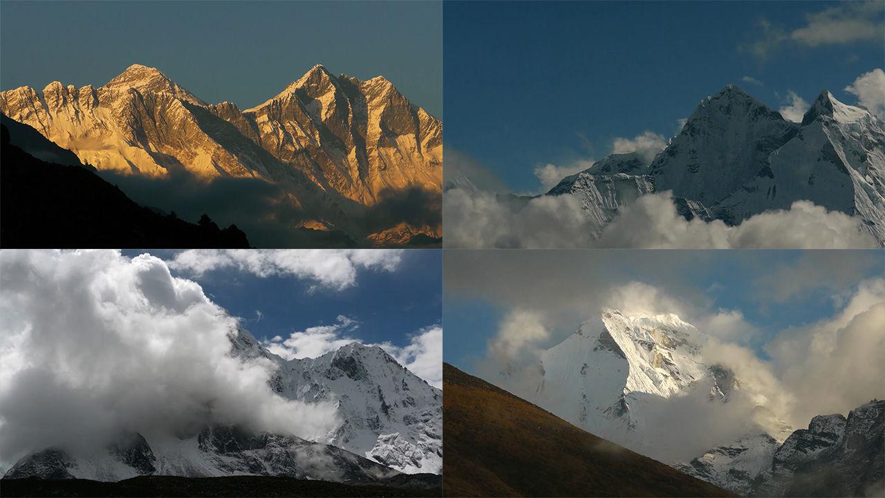 4k美丽延时西藏风景雪山云层