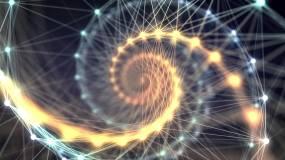 金色梦幻唯美线条循环背景视频视频素材