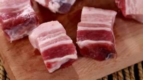 食品食材美食五花肉卡路里豬肉視頻素材