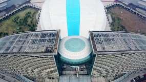 湖北武汉洲际酒店博览中心航拍4K视频素材