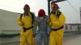 消防演习化工氨气罐泄漏-救人视频素材包